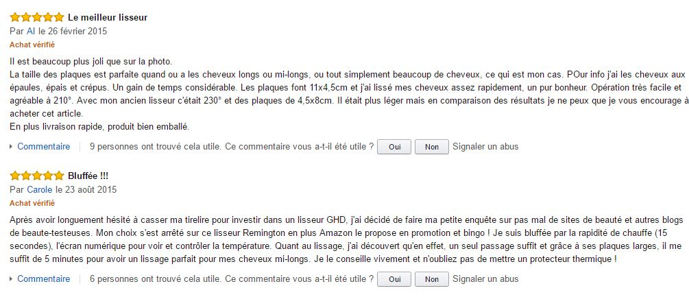 opinion des clientes sur le lisseur Remington S5525